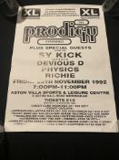 The prodigy Experience Gig Poster 1992