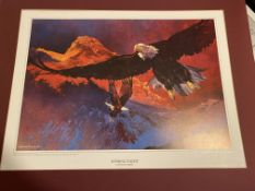 Michael Vaughan Large Signed Limited Edition Print, Evening Flight