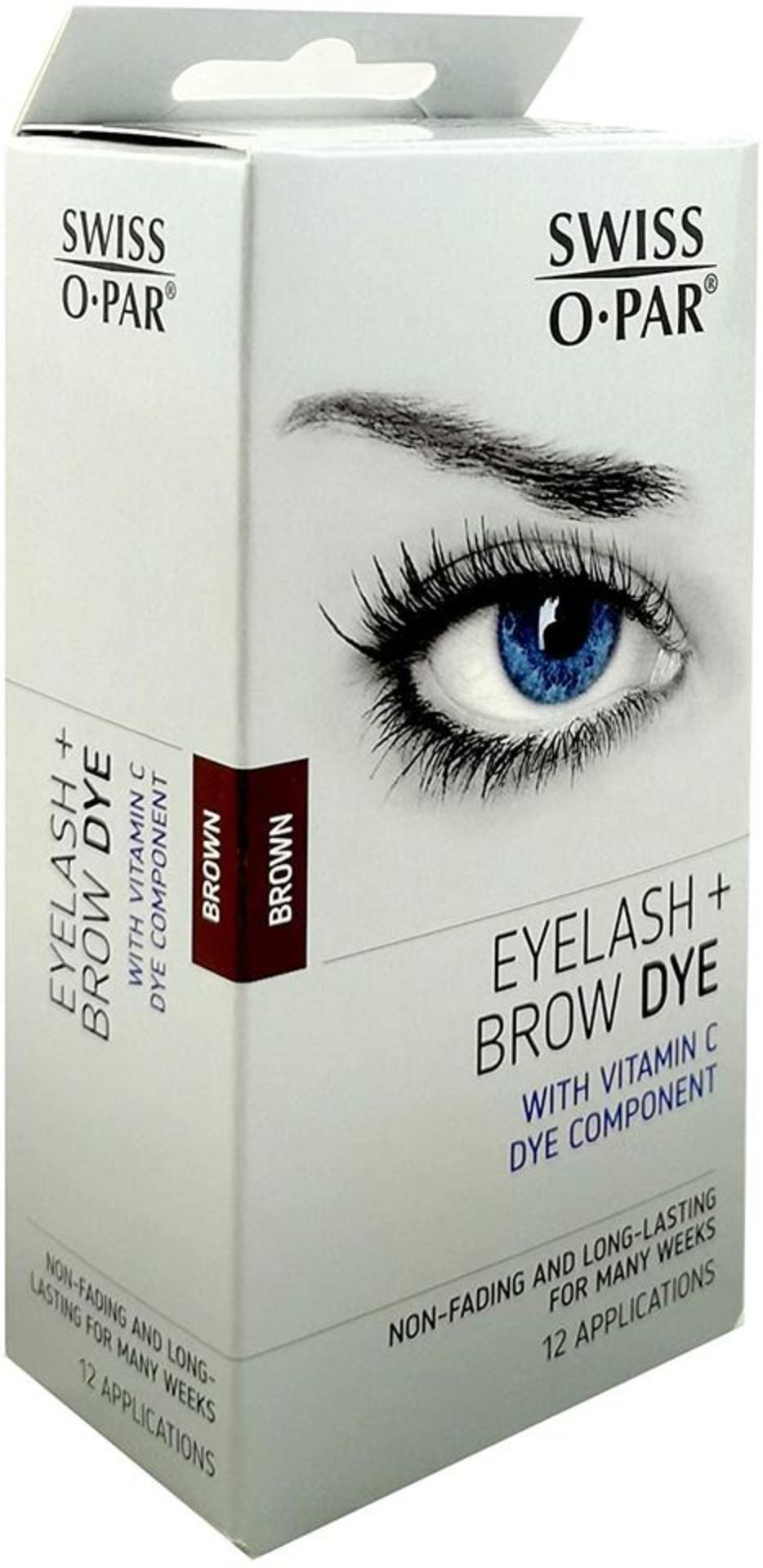 Swiss O Par Eyelash And Brow Dye Tint Colour Kit - Brown