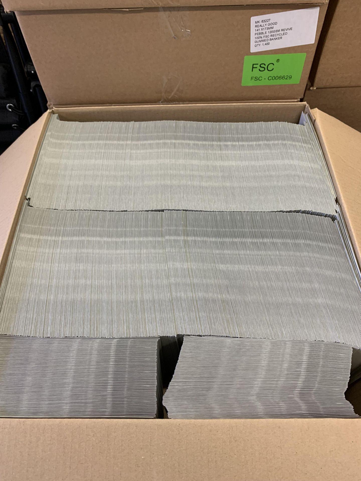 1400 Premium Pebble 120Sm Gu mmed Banker Envelopes 141 x 173 mm - Image 2 of 2