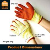 10 x Pairs Of Non Slip Work Gloves