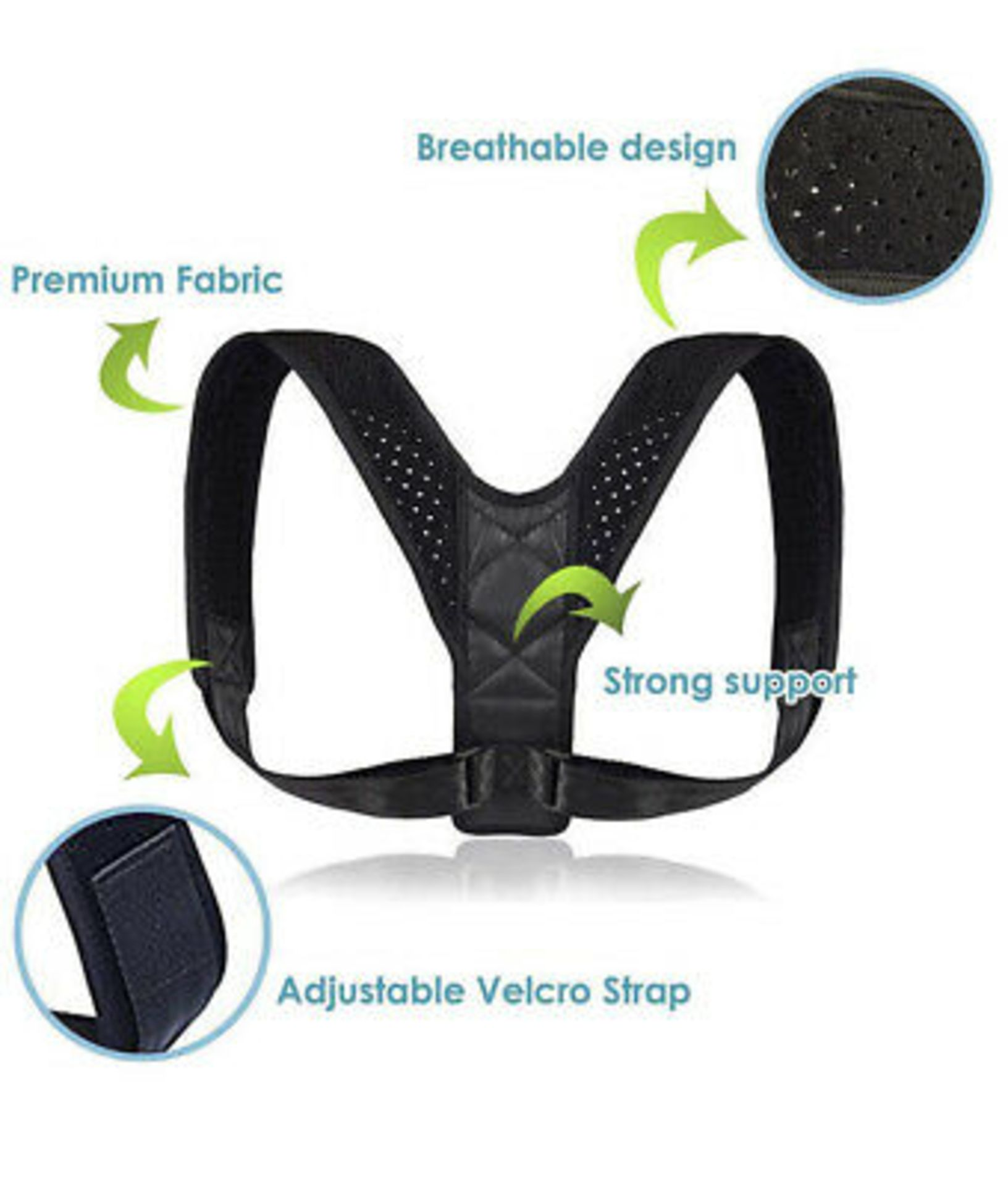 Brand New Back Support/Posture Corrector Rrp 27.99