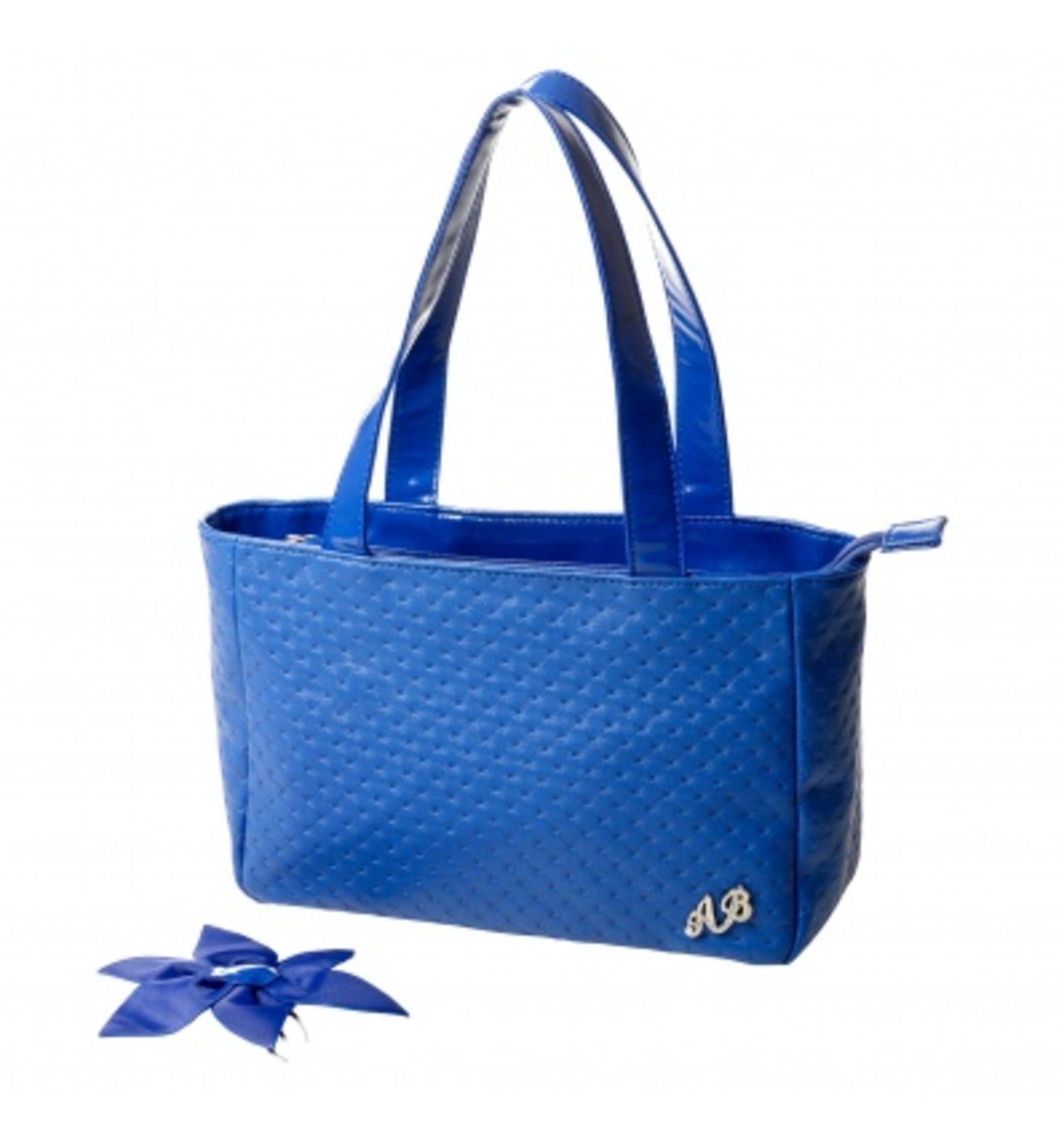 New - Ab Collizioni - Ladies Blue Handbags With Dust Bag
