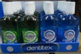 16 x Brand New Dentex Cool Blast Mouth Wash 500Ml