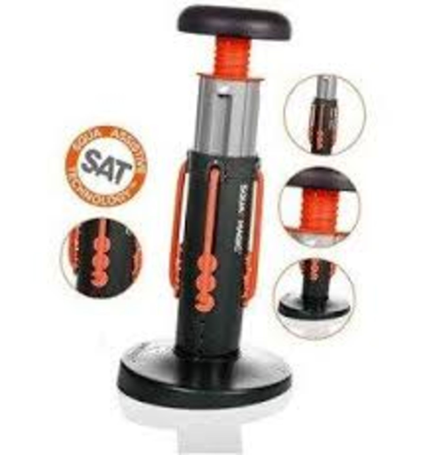 Brand New Clubfit - Adjustable Power Hand Grips (10 Kg - 40 Kg) Rrp 16.99 - Image 2 of 5