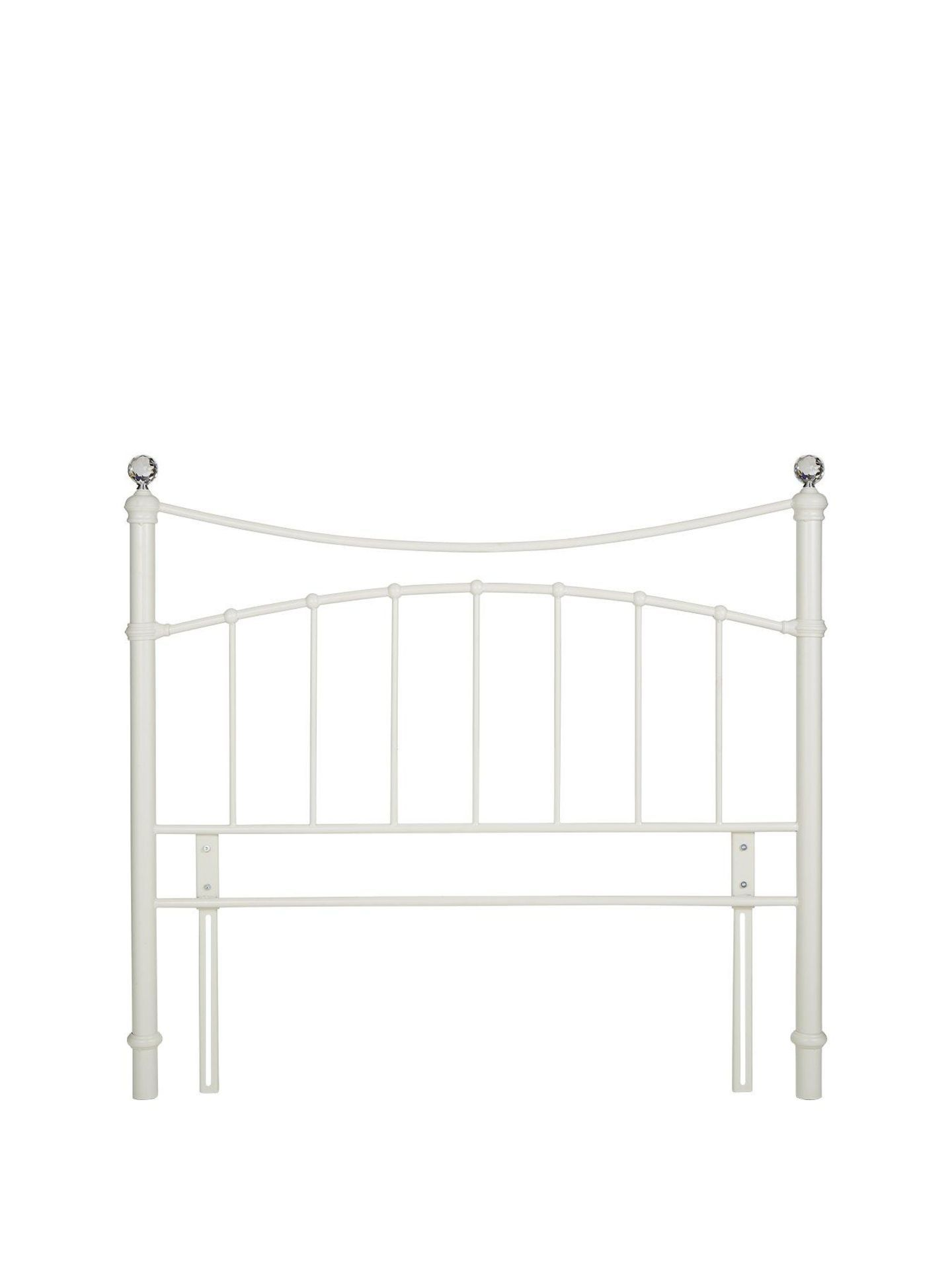 New - Glisten King Headboard [Cream] 130 x1 52 x 10Cm Rrp: 148.00