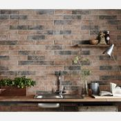 New 7.5m2 Brick Tile Rustic Ceramic Wall Tiles Carrelage Mural. 9.5mm Thickness, 250x500mm Per...