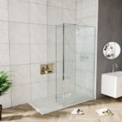 New (A13) 700x275mm - 8mm - Premium Easyclean Wetroom And Rotatable Panel.RRP £399.99.8mm Easy...