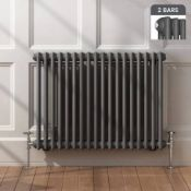 New 600x828mm Anthracite Double Panel Horizontal Colosseum Traditional Radiator.Rca563.RRP £54...