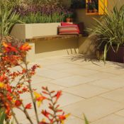 9m2 Bradstone Aged Riven Patio Pack Cream. A Weathered Riven Profile And Textured Surface Give ...