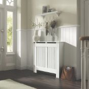New (D137) Contemporary Kensington Radiator Cover Small White 1020 x 180 x 800mm . Ideal For Co...