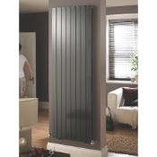 New (D42) Oceanus Duplex Horizontal Or Vertical Designer Radiator 1800 x 445mm Anthracite 4539...