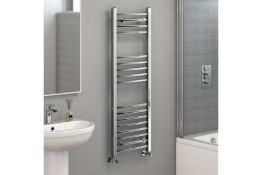 New 1200x400mm - 20mm Tubes - Chrome Curved Rail Ladder Towel Radiator. Nc1200400.Our Nancy ...