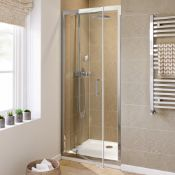 New (W128) 6mm - Elements Pivot 760mm Shower Door 6mm Safety Glass Fully Waterproof Tested Poli...