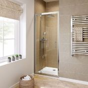 New & Boxed Twyfords 700mm - 6mm - Premium Pivot Shower Door. RRP £299.99. Of2100Cp. 8mm Saf...