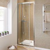 New 700mm - 6mm - Premium Pivot Shower Door. RRP £299.99.8mm Safety Glass Fully Waterproof Te...