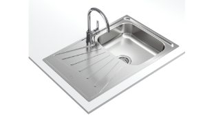 New (Y162) Teka Inset Reversible Sink With Matt Finish In 45 cm. Starbright Series Stainless S...