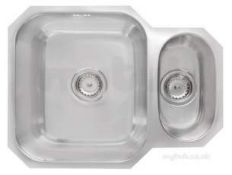 (Qp168) 600mm 15B Reversible Undermount Sink Stainless Steel Fitted With High-Density Sound Dea...