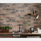 New 7.5M2 Brick Tile Rustic Ceramic Wall Tiles Carrelage Mural. 9.5mm Thickness, 250x500mm Per...