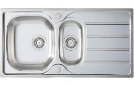 New (T205) Prima 1 Bowl Sink Stainless Steel, 965x500mm. New (T205) Prima 1 Bowl Sink
