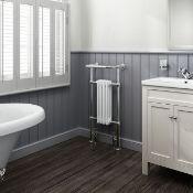 (Z54) 952x479mm Small Traditional White Towel Rail Radiator - Cambridge. RRP £449.99.We love ...