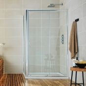 New (O78) Shield 000mm Sliding Shower Door. Rrp £390.09. A Beautifully Finished Sliding Door F...