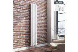 New 1800x300mm Gloss White Double Flat Panel Vertical Radiator. RRP £349.99.Rc236.Made With L...