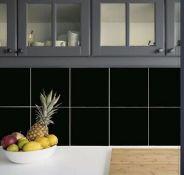 New 30.24m2 Pescaro Black Matt Plain Ceramic Wall & Floor Tile. 30x30cm Per Tile. Slip Resist...