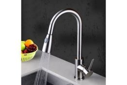 New & Boxed Della Modern Monobloc Chrome Brass Pull Out Spray Mixer Tap. RRP £299.99.This Tap...