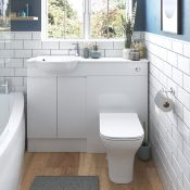 New (W145 ) Valesso White Gloss 600mm Vanity Unit RRP £373 Basin Not Included Durable 18 mm Ca...