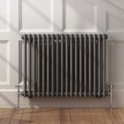 New 600x828mm Anthracite Double Panel Horizontal Colosseum Traditional Radiator. RRP £439.99.C...