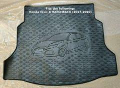 Rigum Premium Tailored Rubber Boot Mat Liner - Honda Civic X Hatchback 2017-2020