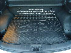 Rigum Premium Tailored Rubber Boot Mat Liner - Nissan Qashqai II 2013-2020