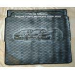 Rigum Premium Tailored Rubber Boot Mat Liner - Peugeot 3008 Vauxhall Grandland X Citroen C5 17-20