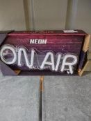 Neon ON AIR Sign – Approx rrp £19.99
