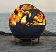 Drakaris Dragon Steel Fire Pit Sphere