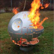 Death Star Steel Fire Pit Sphere