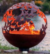 Butterflies Steel Fire Pit Sphere