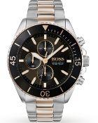 Hugo Boss 1513705 Men's Ocean Edition Two Tone Bracelet Chronograph Watch