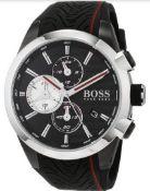 Hugo Boss Contemporary Sport Motorsport Analog Black Dial MenÕs Watch 1513284