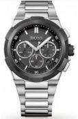 Hugo Boss 1513359 Men's Supernova Black Dial Silver Bracelet Chronograph Watch