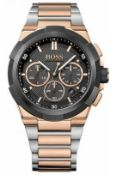 Hugo Boss 1513358 Men's Supernova Rose Gold & Silver Chronograph Watch