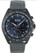 Hugo Boss 1513679 Men's Intensity Grey Leather Strap Chronograph Watch