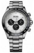 Hugo Boss 1512964 Men's Ikon Silver Bracelet Chronograph Watch