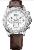 Hugo Boss 1513175 Men's Ikon Brown Leather Strap Chronograph Watch