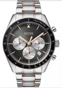 Hugo Boss 1513634 Men's Trophy Two Tone Rose Gold & Silver Chronograph Watch