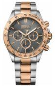 Hugo Boss 1513339 Men's Ikon Two Tone Rose Gold & Silver Chronograph Watch