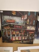 The Corner Deli, Kenmare St. New York Print On Canvas 600 X 600mm