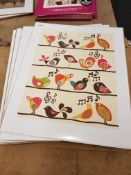 13 X Songbird Prints 500 X 400mm