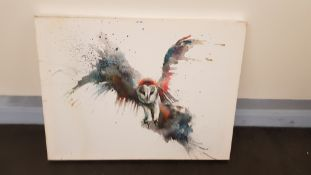 Eric In Flight Canvas Print By Sarah Stokes (800 X 600 X 20mm)